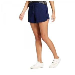 NWT Mossimo Drawstring Soft Twill Shorts XL Navy